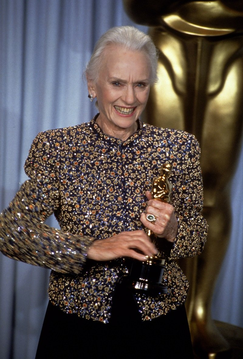 Jessica Tandy circa 1990 in Los Angeles, California | Photo: Getty Images