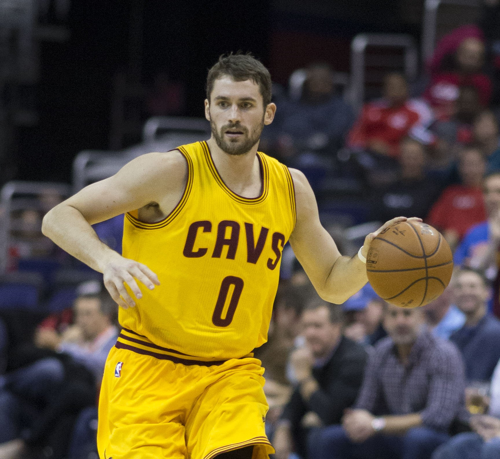 Kevin Love of the Cleveland Cavaliers in a game against the Washington Wizards at Verizon Center on November 21, 2014 in Washington, DC. | Photo: Keith Allison from Hanover, MD, USA, CC BY-SA 2.0, Wikimedia Commons
