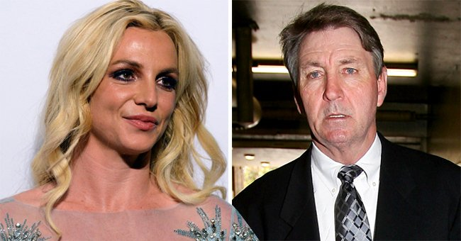 Britney Spears (left) and her father Jamie Spears (right)   Photo: Getty Images