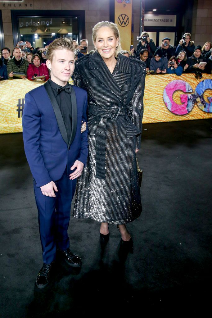 Sharon Stone and her son Roan Joseph Bronstein at the 21st GQ Men of the Year Awards at Komische Oper on November 7, 2019, in Berlin, Germany | Photo:Isa Foltin/Getty Images