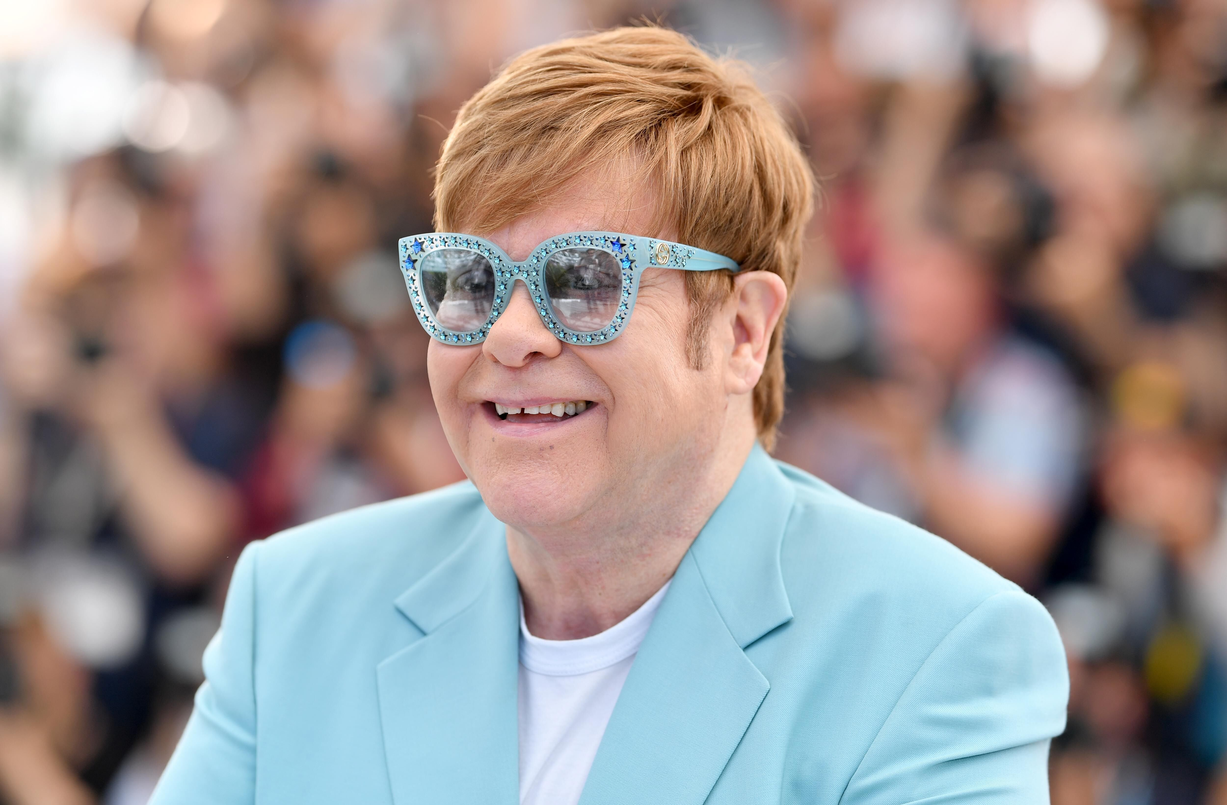"Sir Elton John attends the photocall for ""Rocketman"" during the 72nd annual Cannes Film Festival on May 16, 2019 in Cannes, France 