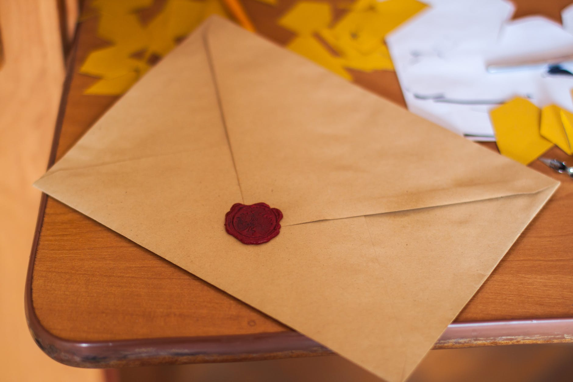 Scottie finally gave her a letter from her son.   Source: Pexels