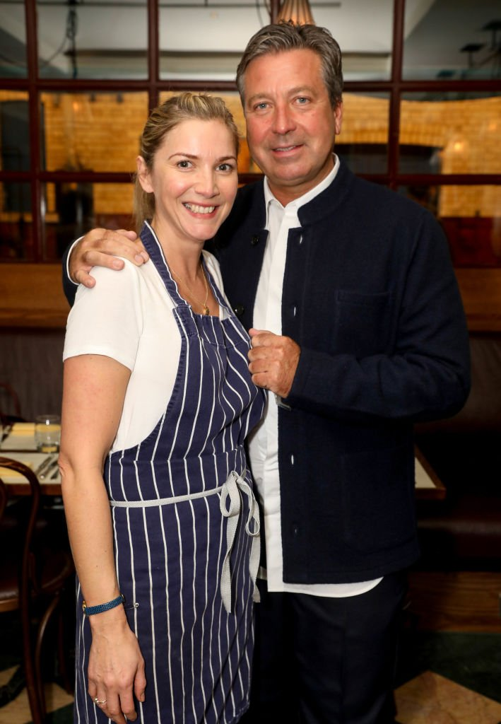 Lisa Faulkner and John Torode attend Faulkner's Guest Chef Supper Club in London on October 30, 2018 | Photo: Getty Images