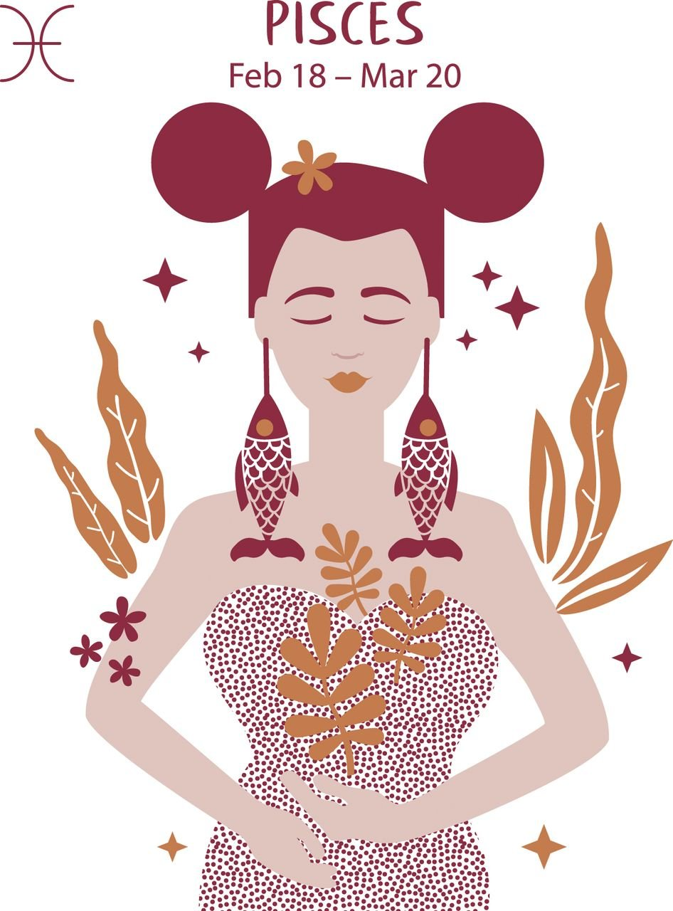 A feminine animation representing the star sign Pisces   Photo: AmoMama