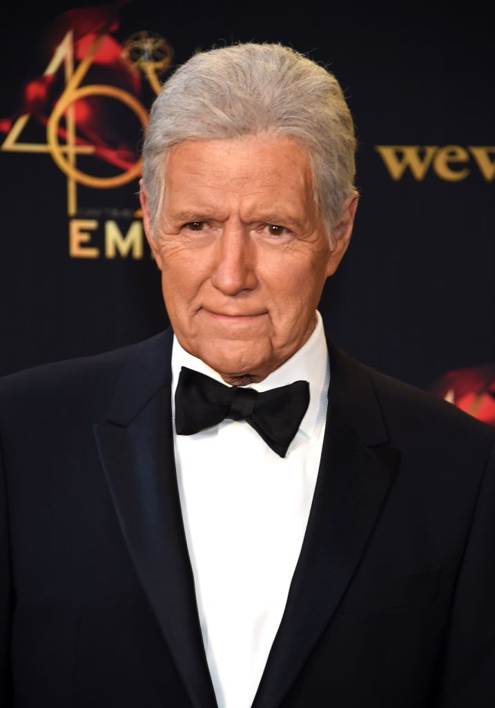 Alex Trebek poses in the press room during the 46th annual Daytime Emmy Awards at Pasadena Civic Center | Photo: Getty Images