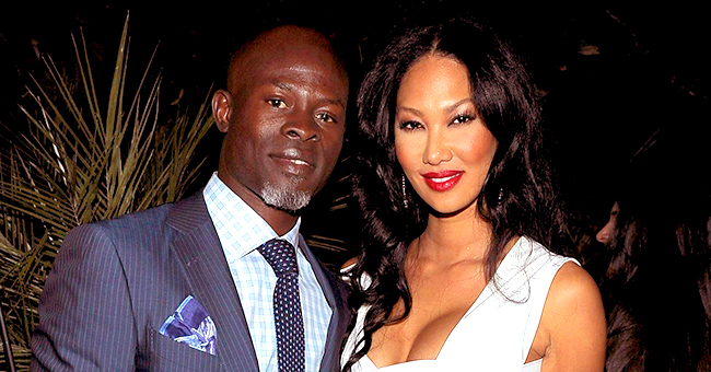 Kimora Lee Simmons Poses with Sons and Diddy's Daughters Amin Dijmon Hounsou Custody Battle