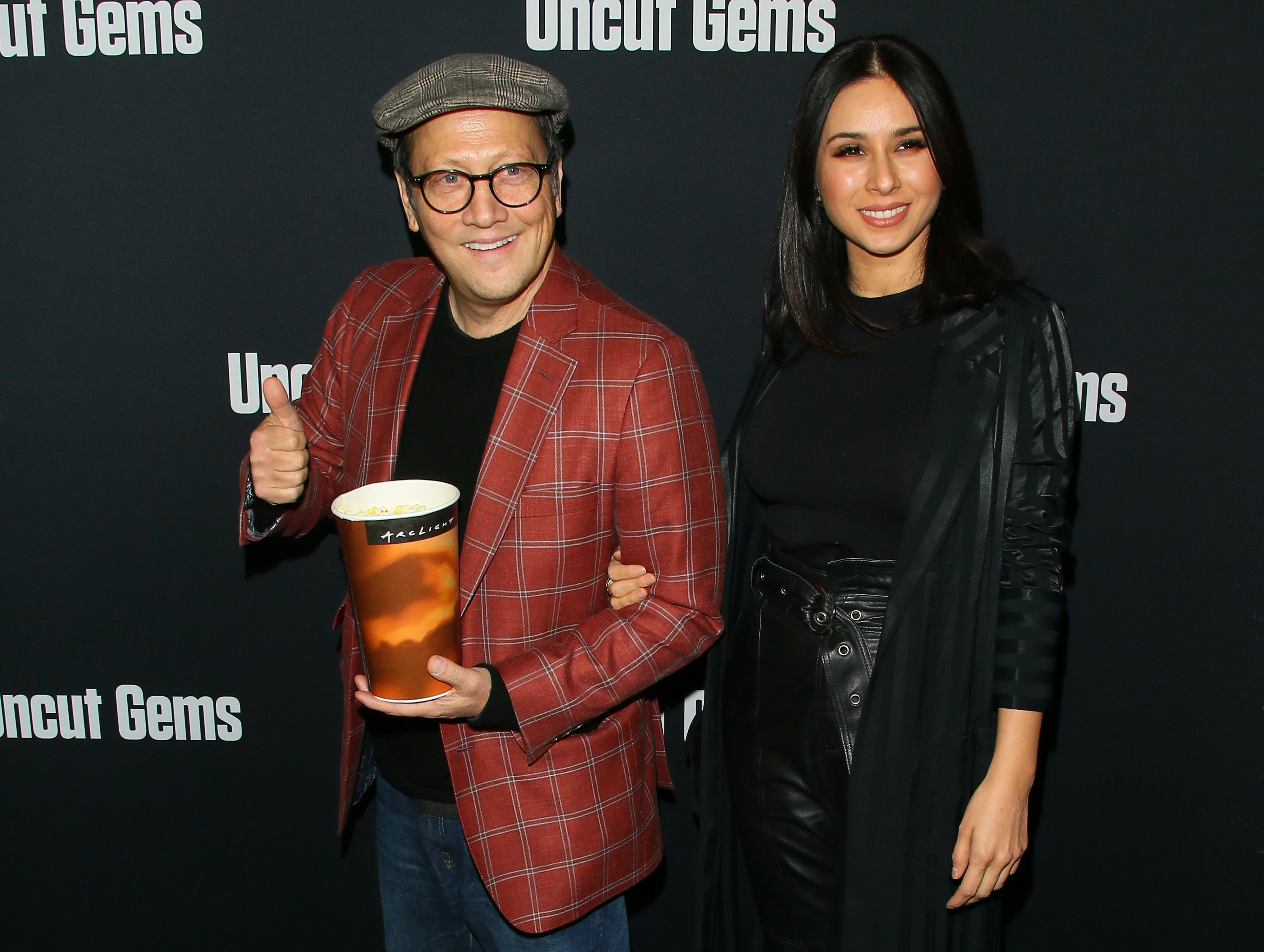 """Rob Schneider and Patricia Azarcoya Schneider attending the premiere of  """"Uncut Gems"""" at The Dome at Arclight Hollywood  in Hollywood, California, in December 2019. I Image: Getty Images."""