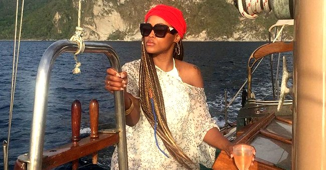 Eve Dons a Sheer Sundress & Red Turban as She Chills on a Yacht with Husband Maximillion Cooper