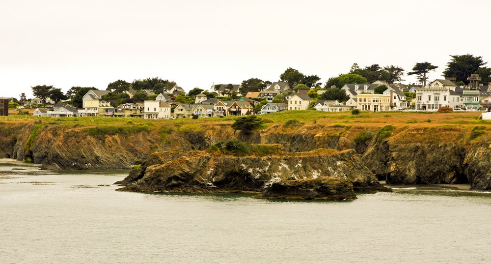 """Mendocino, California, the setting for the televisionshow by William Link and Richard Levinson """"Murder, She Wrote""""   Photo: Shutterstock/Thomas Barrat"""
