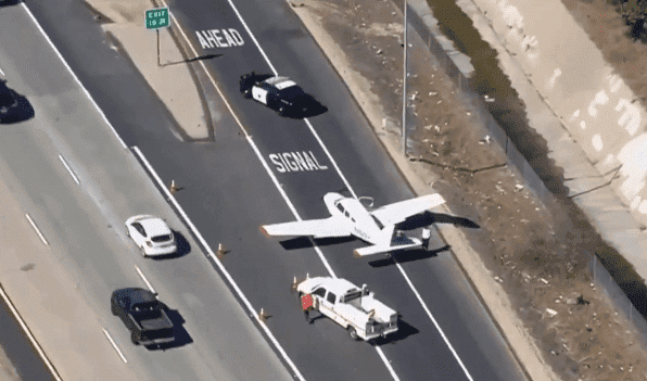 Source: A small jet landing on a commercial road / Shutterstock