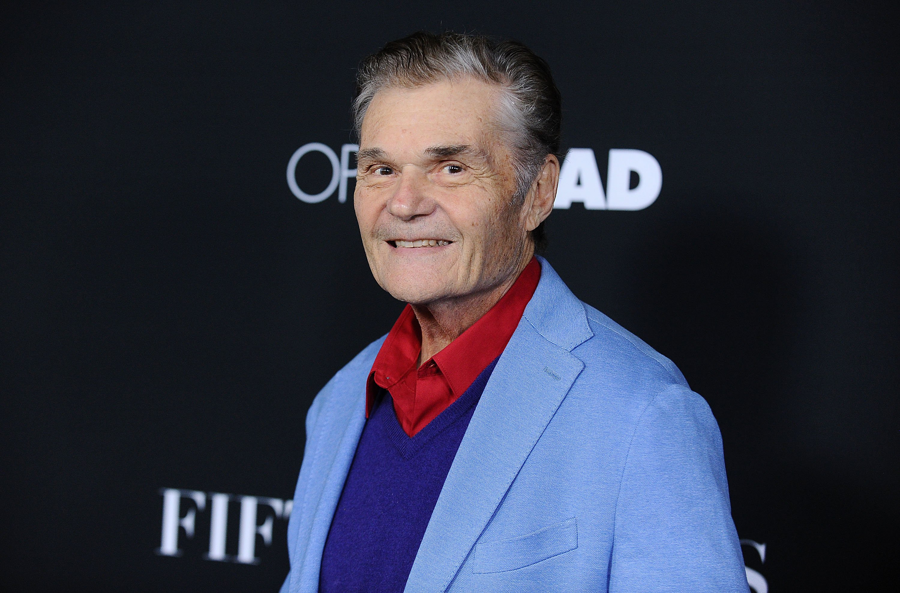 "Fred Willard attends the premiere of ""Fifty Shades of Black"" on January 26, 2016, in Los Angeles, California. 
