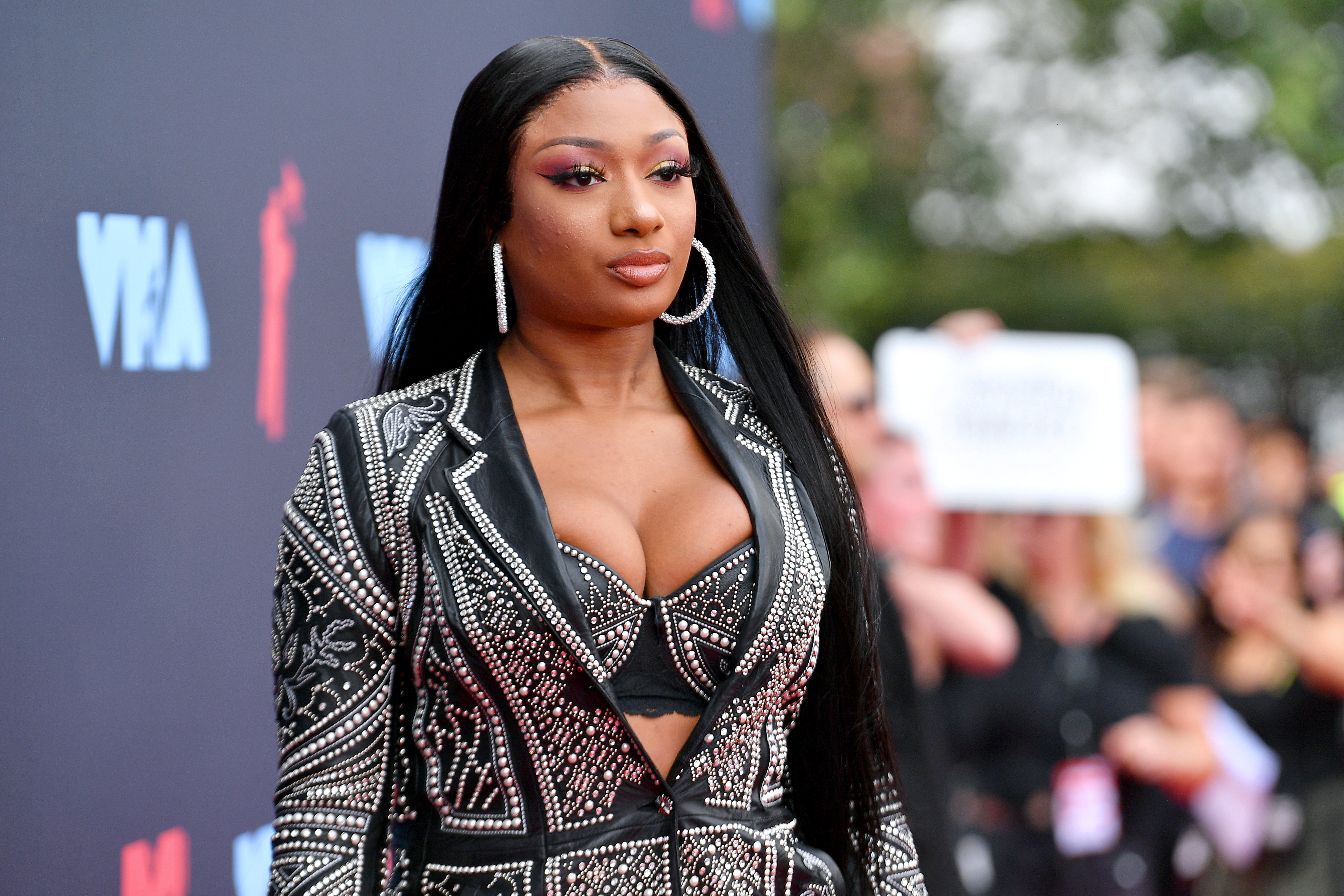 Megan Thee Stallion at the 2019 MTV Video Music Awards on August 26, 2019 in Newark, New Jersey.   Source: Getty Images