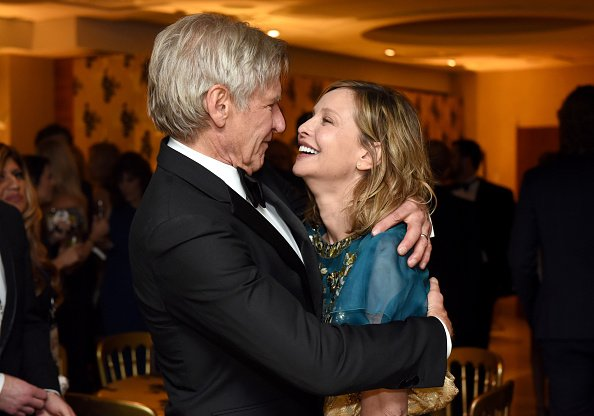 Actor Harrison Ford and wife Calista Flockhart at the HBO's Official Golden Globe Awards After Party | Photo: Getty Images
