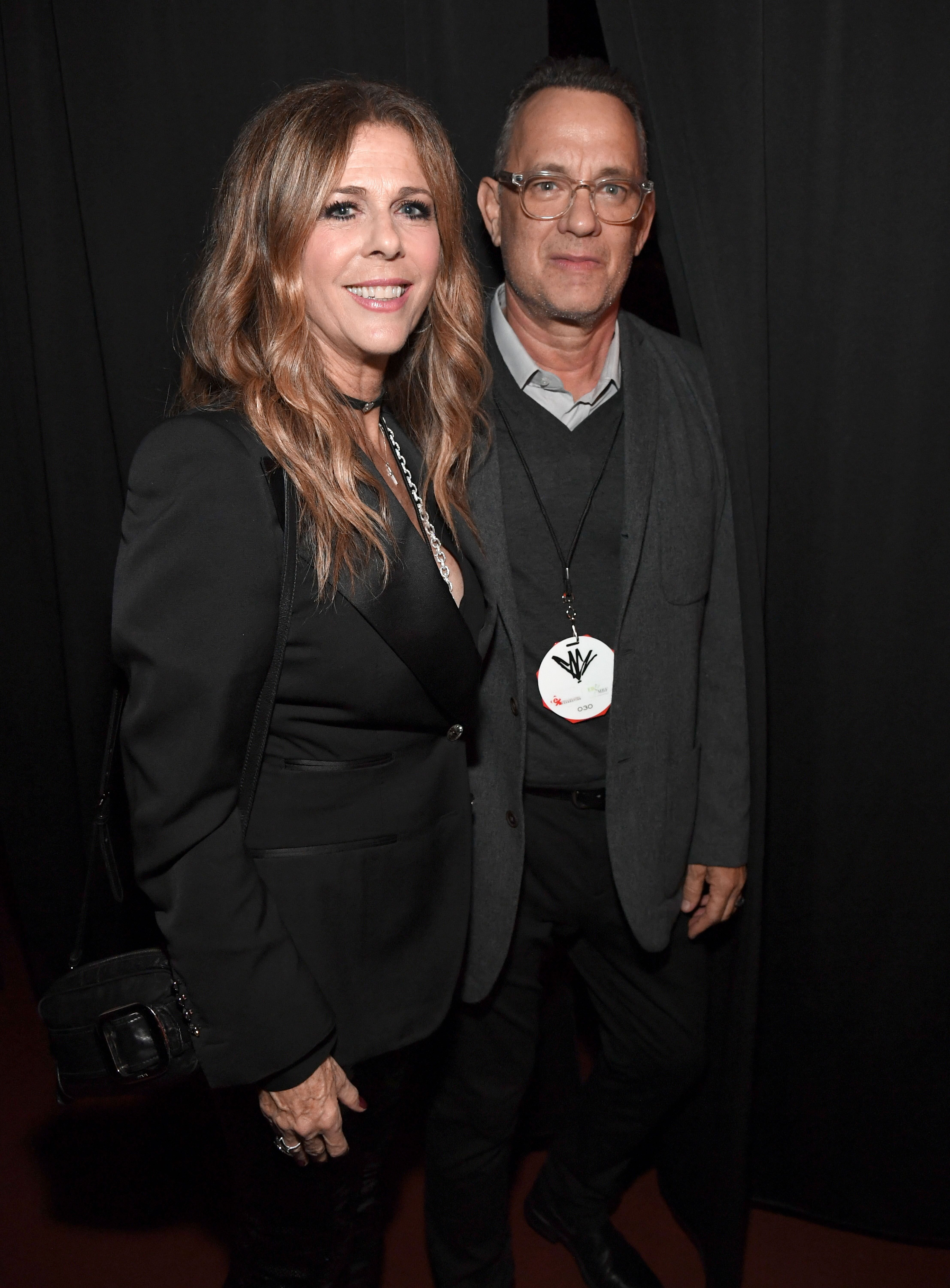 Rita Wilson and Tom Hanks at The Forum on January 16, 2019, in Inglewood, California | Photo: Kevin Mazur/Getty Images