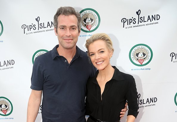 """Douglas Brunt and Megyn Kelly pose at the opening night celebration for """"Pip's Island"""" benefiting the Hole in the Wall Gang Camp at 400 West 42nd Street on May 20, 2019 