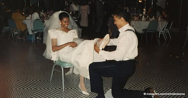 Barack and Michelle Obama tweet sweet posts as they celebrate their 26th anniversary