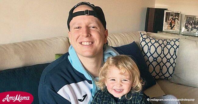 Álex Lequio comparte por primera vez una dulce foto con su hermana de 2 años