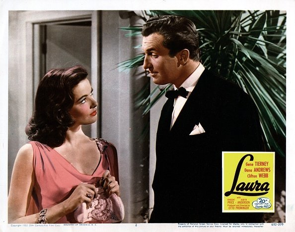 Laura, poster, Gene Tierney, Vincent Price, 1944 | Photo: Getty Images