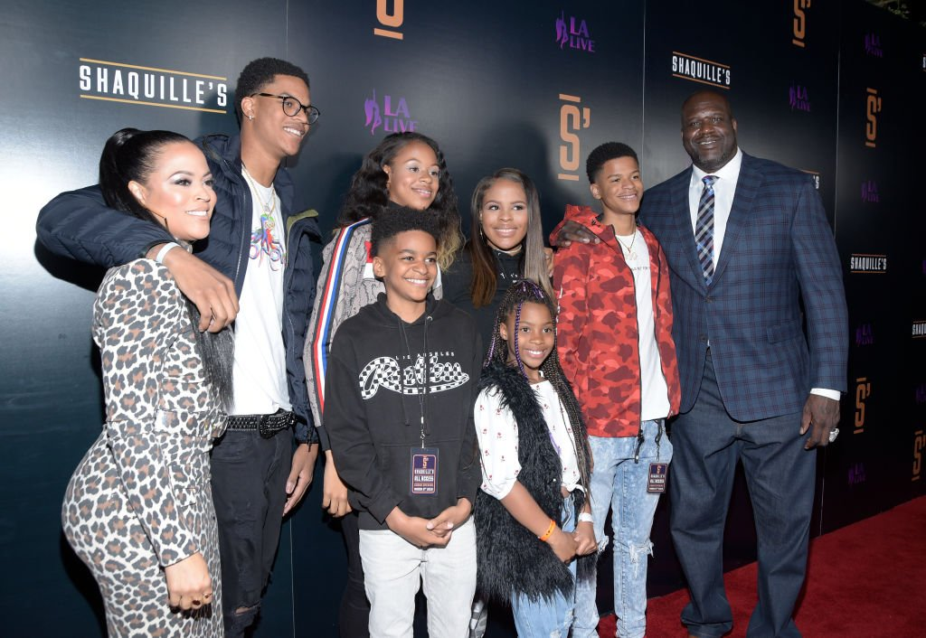 Shaunie O'Neal, Shaquille O'Neal and family attend the grand opening of Shaquille's At L.A. Live on March 09, 2019 in Los Angeles, California   Photo: Getty Images