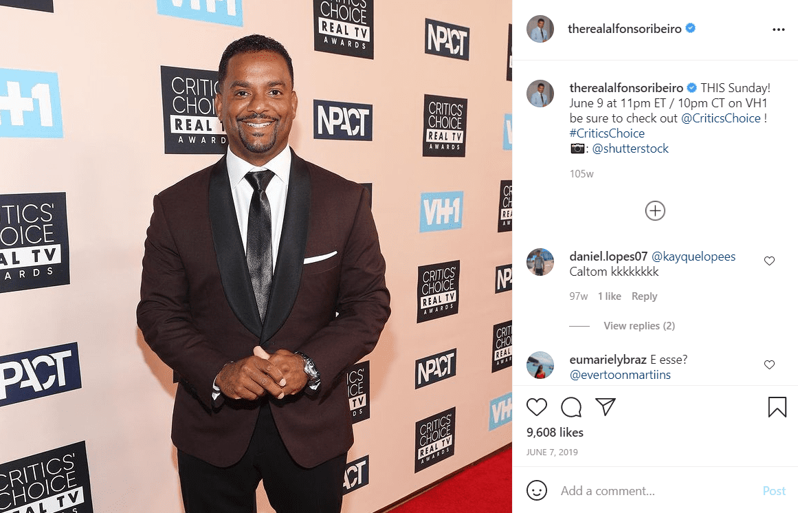 A photo of Alfonso Ribeiro looking dapper in a suit. | Photo: Instagram/Alfonsoribeiro