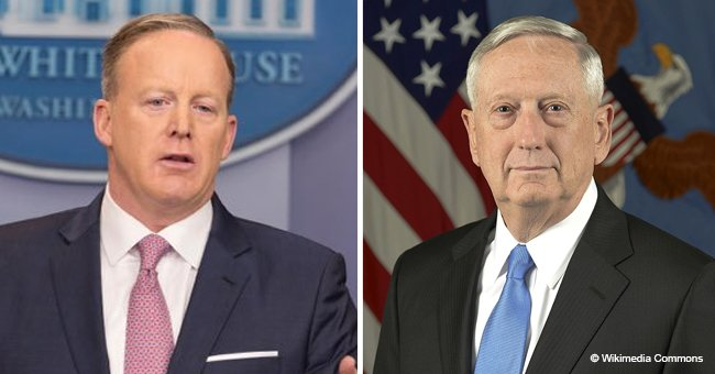 Mattis lashes out at Sean Spicer after he didn't stop pestering him