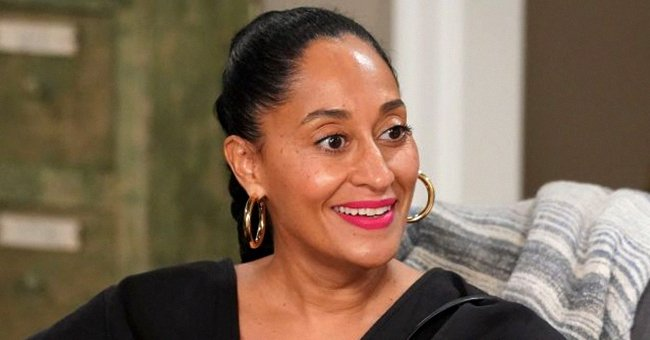 Tracee Ellis Ross Looks Glamorous In a Peach Knit Dress in New Photos