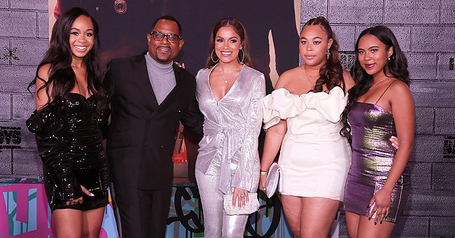 Martin Lawrence Steps out with His Three Beautiful Daughters & Fiancée Roberta Mordafar at 'Bad Boys 3' Premiere