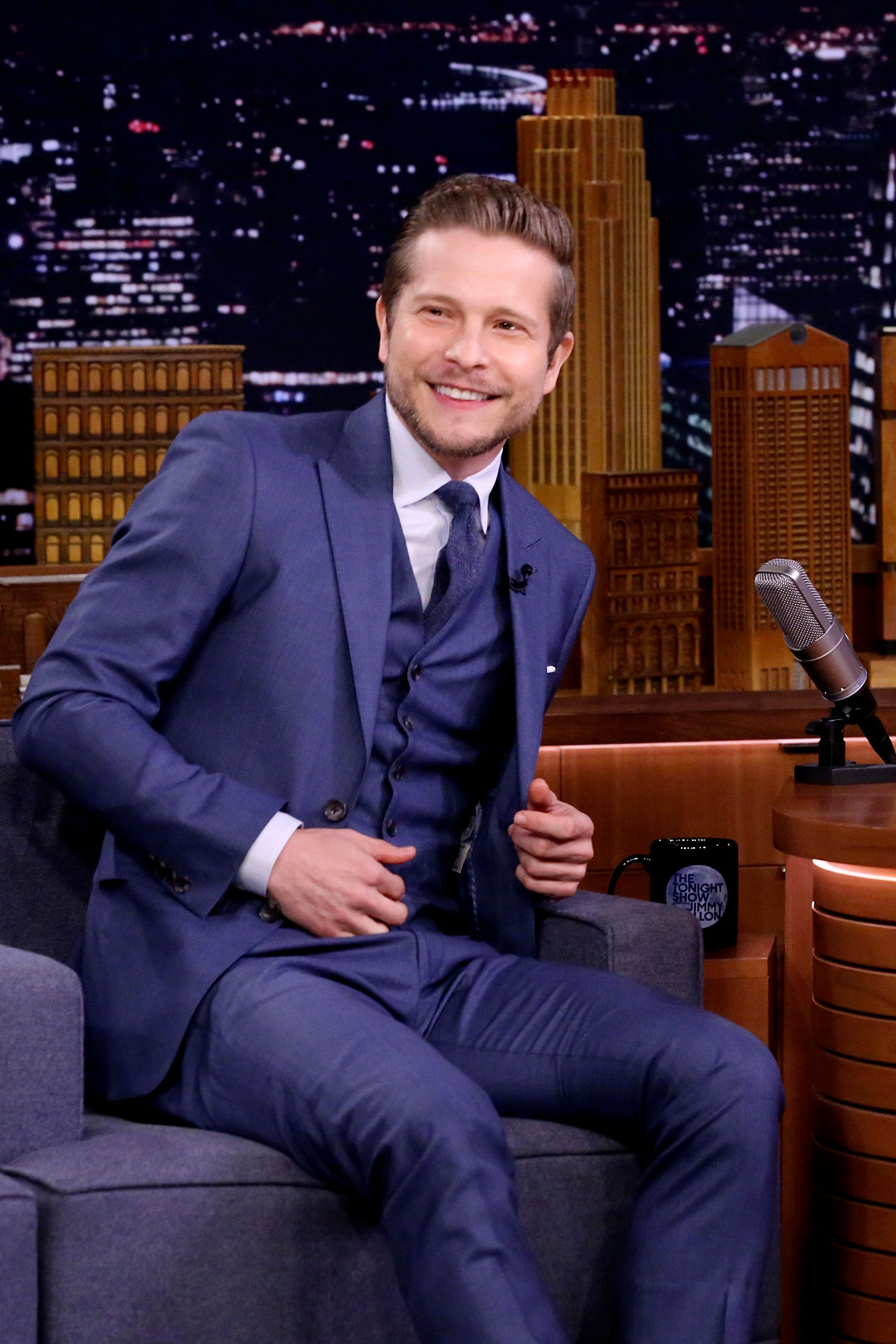 """Actor Matt Czuchry during an interview on """"The Tonight Show Starring Jimmy Fallon"""" September 12, 2018. 