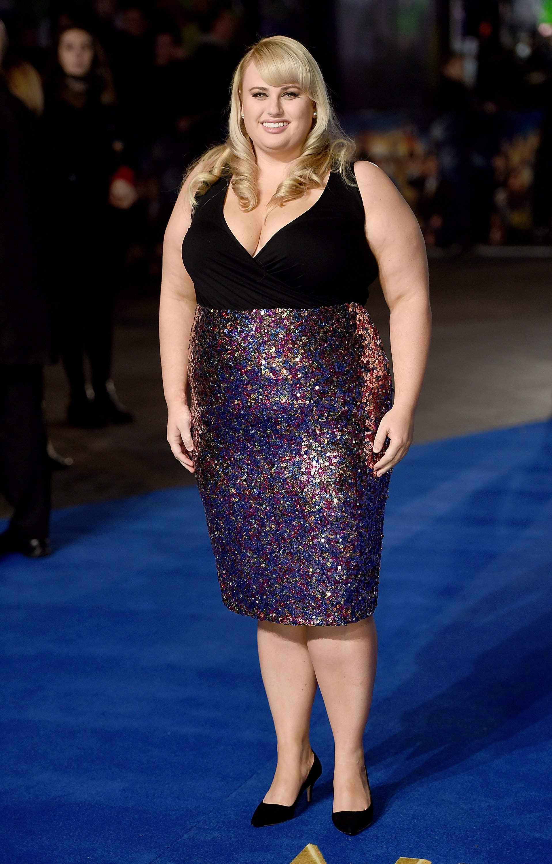 "Rebel Wilson attends the UK Premiere of ""Night At The Museum: Secret Of The Tomb"" on December 15, 2014, in London, England. 