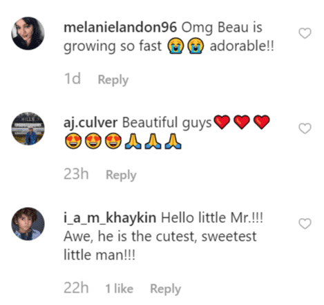 Fan comments on Christopher's post | Instagram: @thechrislandon