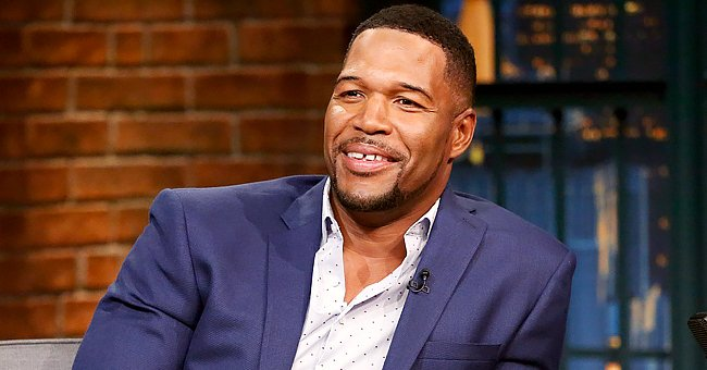 Michael Strahan Shares New Photo of Twin Daughter Sophia & Jokes about Her Lying on the Floor