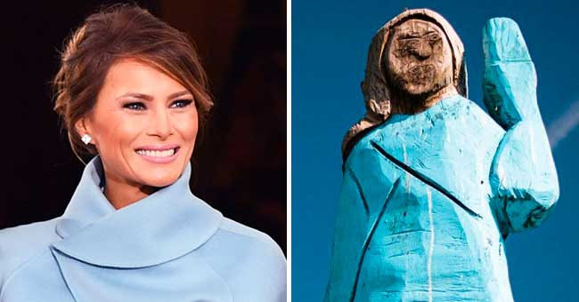 Melania Trump Statue Made of Wood Placed in Her Homeland Slovenia