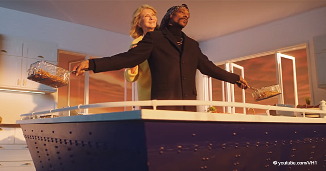 Martha Stewart and Snoop Dogg Parody 'Titanic' Scene While Cooking Fries