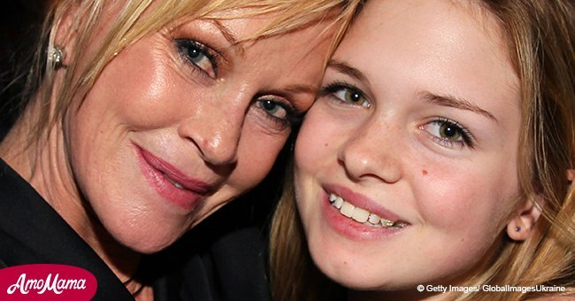 Melanie Griffith's younger daughter Stella, 21, shares photo of herself in a nude lace bikini