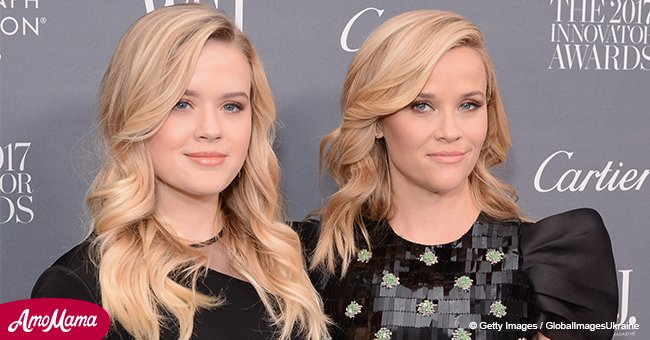 Reese Witherspoon's mini-me daughter Ava shows off her slender figure in tight dress