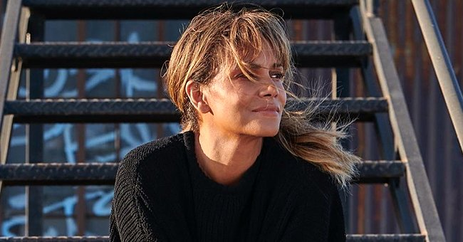 Halle Berry Proves She Is Aging like Fine Wine Posing in a Black Outfit with a Nail Earring