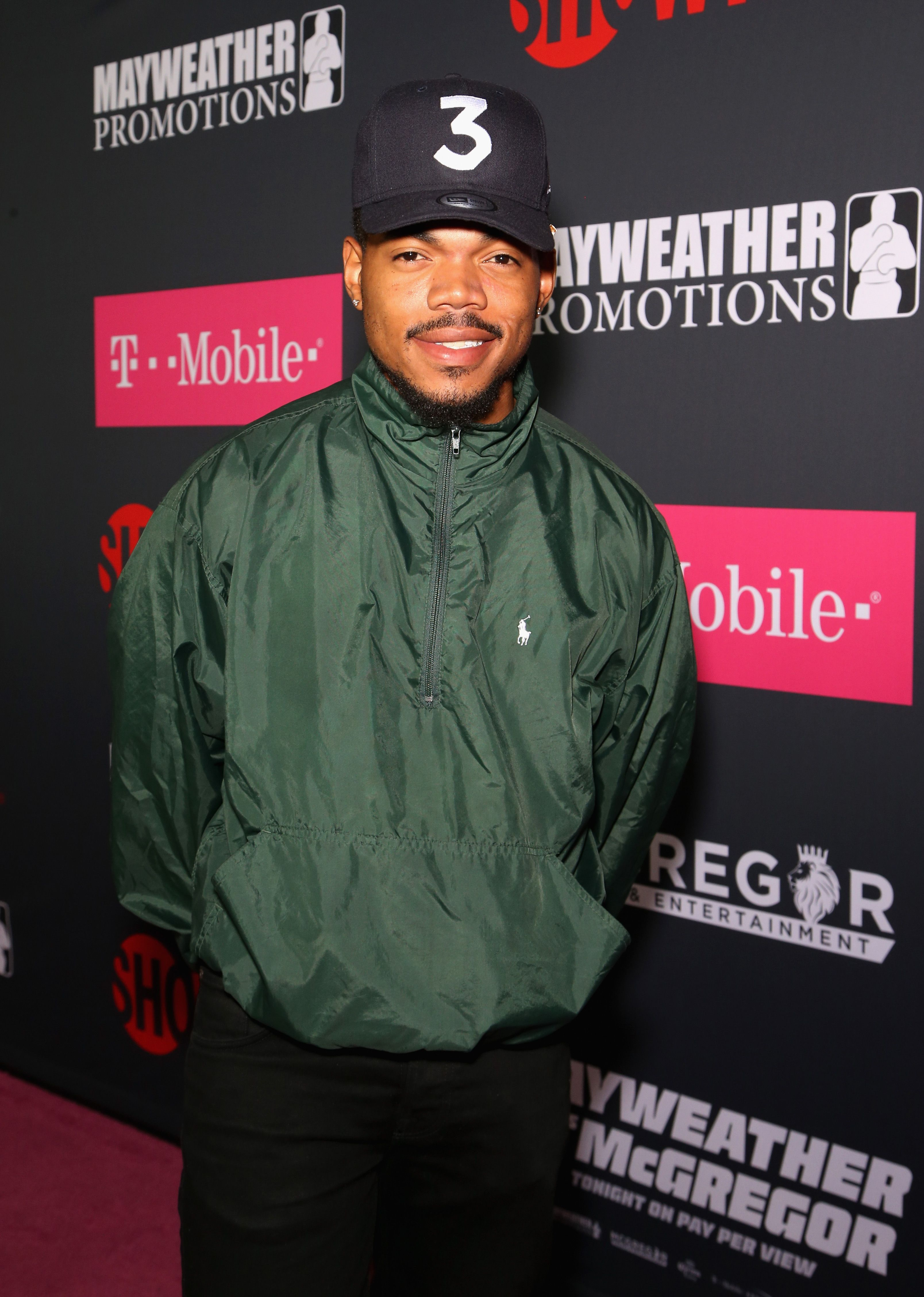 Chance The Rapper arrives at the Showtime, WME IME and Mayweather Promotions VIP Pre-Fight Party for Mayweather vs. McGregor on August 26, 2017 | Photo: Getty Images