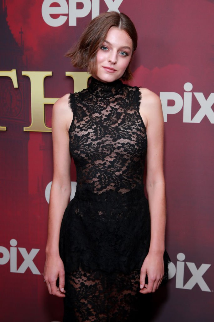 """Emma Corrin attends the LA premiere of Epix's """"Pennyworth"""" at Harmony Gold. 