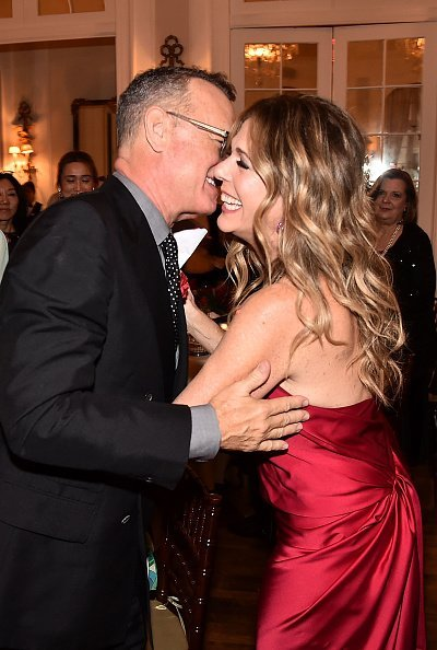 Tom Hanks and Rita Wilson at the 2018 American Friends of Blerancourt Dinner on November 9, 2018 in New York City | Photo: Getty Images