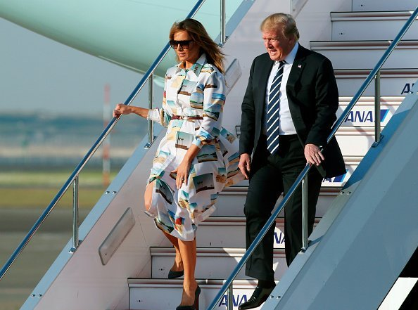 President Donald Trump and First Lady Melania Trump at Haneda International Airport on May 25, 2019 in Tokyo, Japan | Photo: Getty Images
