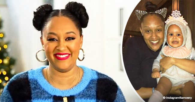 Tia Mowry glows with pride in new photo with her growing baby daughter who's dressed like a rabbit