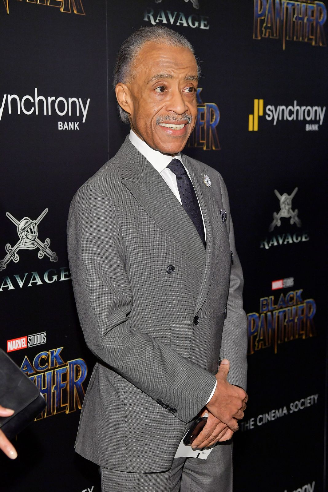 "Al Sharpton at the screening of Marvel Studios' ""Black Panther"" on February 13, 2018 in New York City 