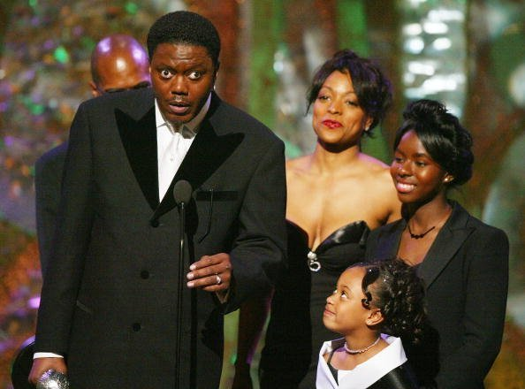 """Cast members of """"The Bernie Mac Show"""" on stage at the 35th Annual NAACP Image Awards at the Universal Amphitheatre 