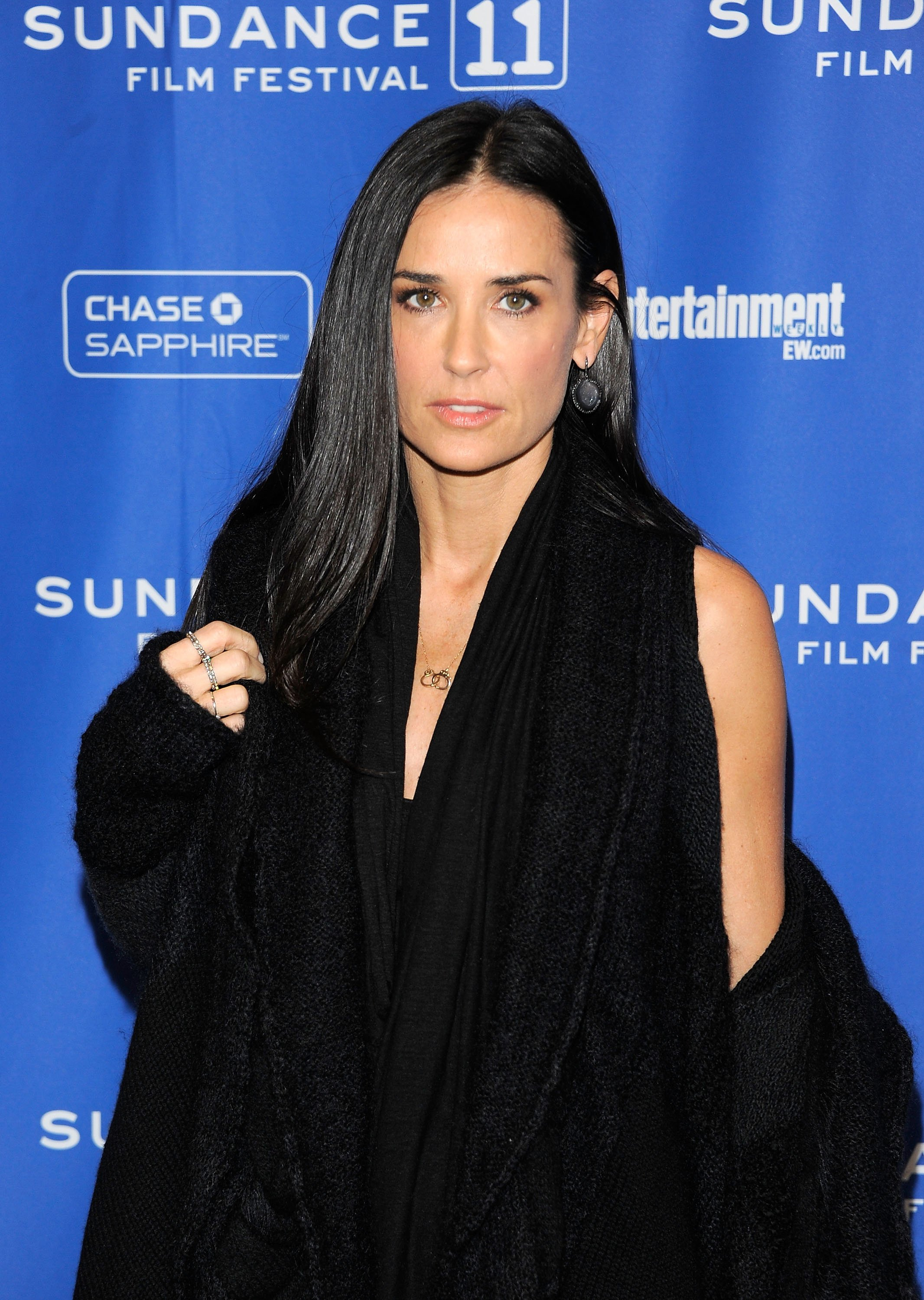 """Actress Demi Moore during the 2011 premier of """"Die Another Day"""" at the Eccles Center Theatre in Utah. 