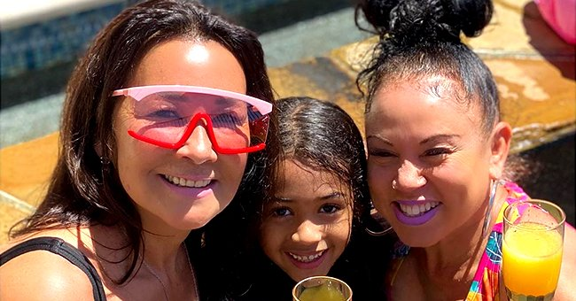Chris Brown's Daughter Royalty & Mom Joyce Hawkins Pose with Champagne Glass in Pool