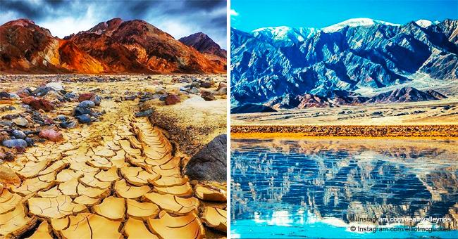 """Hermoso """"lago"""" de 16 km apareció en uno de los sitios más secos de EEUU, el Valle de la Muerte"""