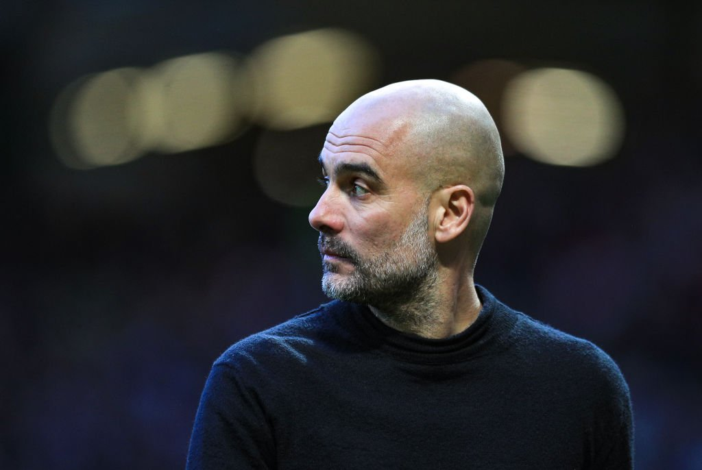 Pep Guardiola, Manager of Manchester City looks on during the Premier League match between Manchester United and Manchester City at Old Trafford on March 08, 2020. | Photo: Getty Images