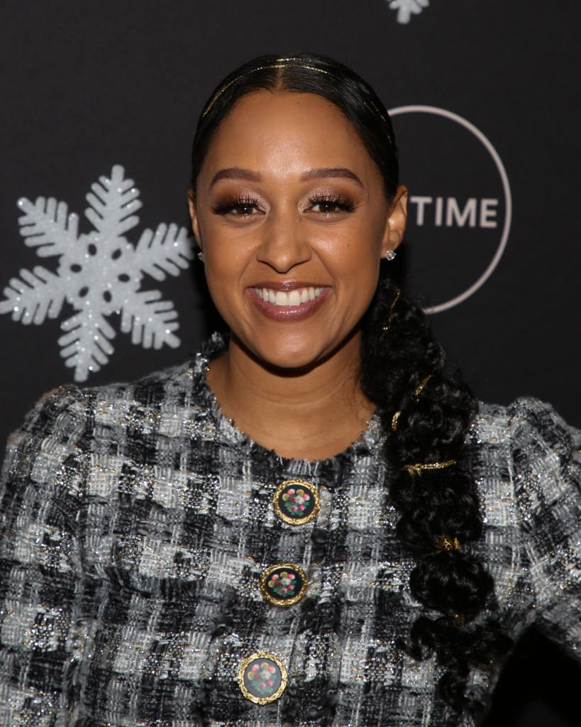 "Tia Mowry-Hardrict attends the ""It's A Wonderful Lifetime"" Holiday Party at STK Los Angeles 