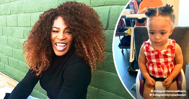 Serena Williams melts hearts with adorable photo of daughter in cute hairstyle done by mom