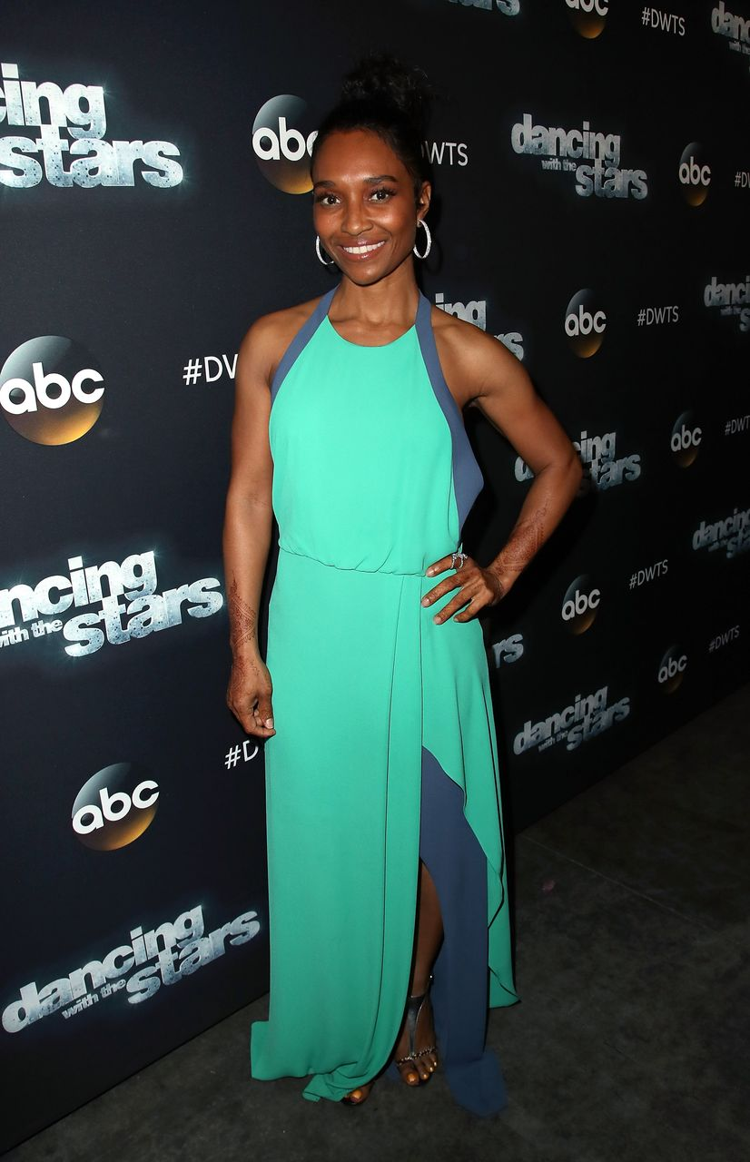 """Rozonda """"Chilli"""" Thomas during the """"Dancing with the Stars"""" Season 24 at CBS Televison City on April 24, 2017 in Los Angeles, California. 